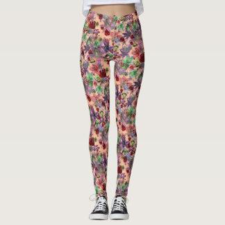 Grunge Floral (peach) Leggings