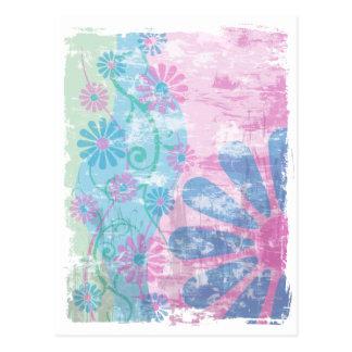 Grunge Floral Post Cards