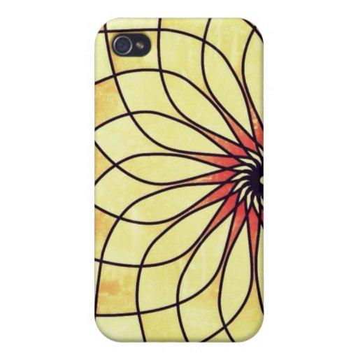 Grunge Floral Print iPhone 4 Case