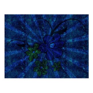 Grunge Floral Theme Postcard