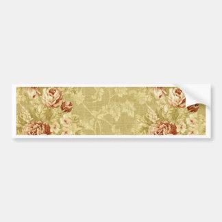 grunge,floral,vintage,damasks,wall paper,pattern, bumper sticker