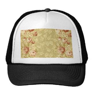 grunge,floral,vintage,damasks,wall paper,pattern, cap