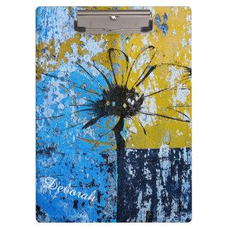 Grunge Flower Clipboard