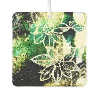 Grunge Flowers Air Freshener