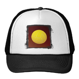 Grunge Frame Yellow Volleyball Cap