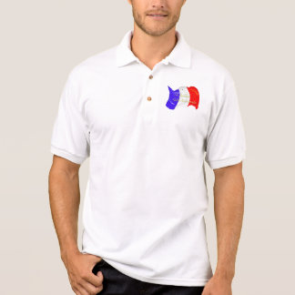 Grunge French Flag Polo Shirt