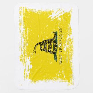 Grunge Gadsden Flag Baby Blanket