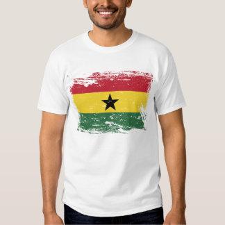 Grunge Ghana Flag T Shirt