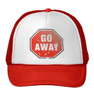 Grunge 'Go Away' sign Hats