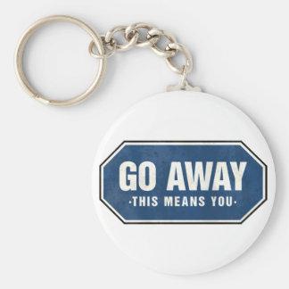 Grunge 'Go Away' sign Key Chain
