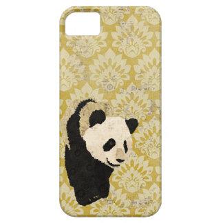 Grunge Gold Damask Panda  iPhone Case