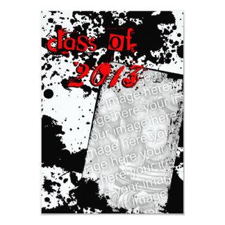 "grunge grad class of 2013 3.5"" x 5"" invitation card"