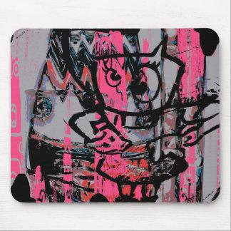 Grunge graffiti graphics mousepad