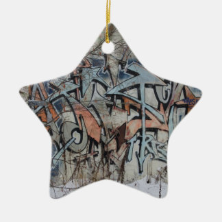 Grunge Graffiti Wall Ceramic Star Decoration