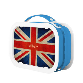 Grunge Great Britain UK Flag Union Jack Lunch Boxes