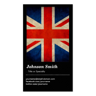Grunge Great Britain UK Flag Union Jack Pack Of Standard Business Cards