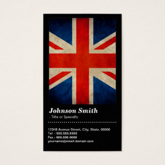 Grunge Great Britain UK Flag Union Jack - QR Code Business Card