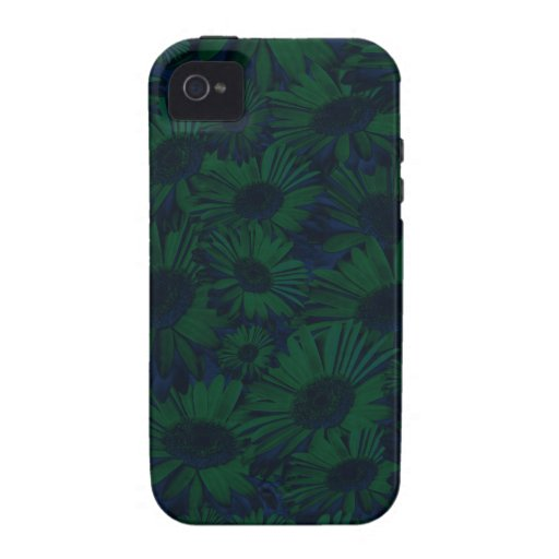 Grunge Green and Blue Floral Vibe iPhone 4 Cover