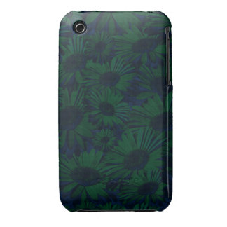 Grunge Green and Blue Floral iPhone 3 Cases