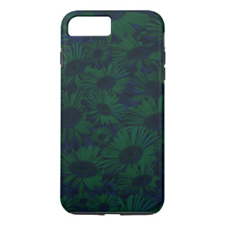 Grunge Green and Blue Floral iPhone 7 Plus Case