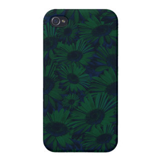 Grunge Green and Blue Floral iPhone 4 Covers