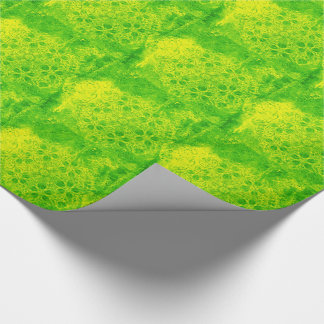 Grunge green kaleidoscope tiled paper