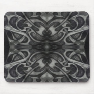 Grunge Grey Metal Tribal  Gothic medieval metallic Mouse Mat