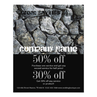 grunge grey stone texture construction business 11.5 cm x 14 cm flyer