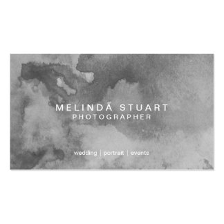 Grunge Grey Watercolor Pack Of Standard Business Cards
