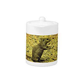 Grunge Ground Squirrel Tea Pot