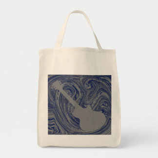 Grunge Guitar Bag, Royal Blue Tote Bag