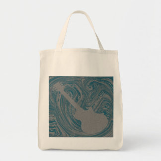 Grunge Guitar Bag, Turquoise Tote Bag