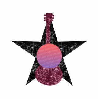 Grunge Guitar Photo Frame Standing Photo Sculpture
