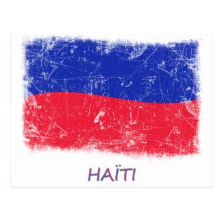 Grunge Haiti Flag Postcard