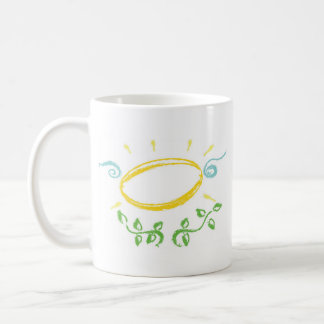 Grunge Halo with Wings and Leaves Coffee Mug