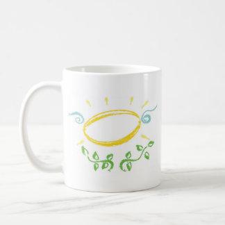 Grunge Halo with Wings and Leaves Coffee Mug