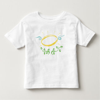 Grunge Halo with Wings and  Leaves Shirt