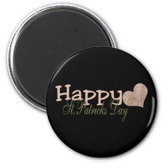 Grunge Happy St Patrick s Day Refrigerator Magnet