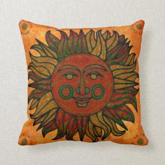 Grunge Harvest New Age Sun Decor Throw Pillow