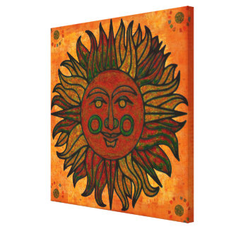 Grunge Harvest New Age Sun Gallery Wrap Canvas