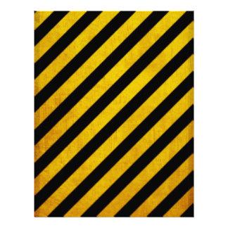 Grunge hazard stripe 21.5 cm x 28 cm flyer