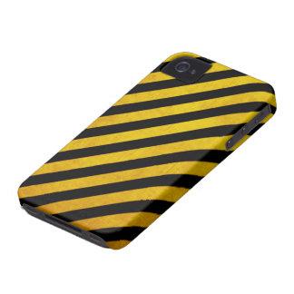 Grunge hazard stripe iPhone 4 case