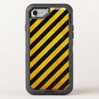 Grunge hazard stripe OtterBox defender iPhone 7 case