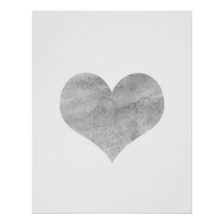 'Grunge Heart'  Poster - Wall Decor