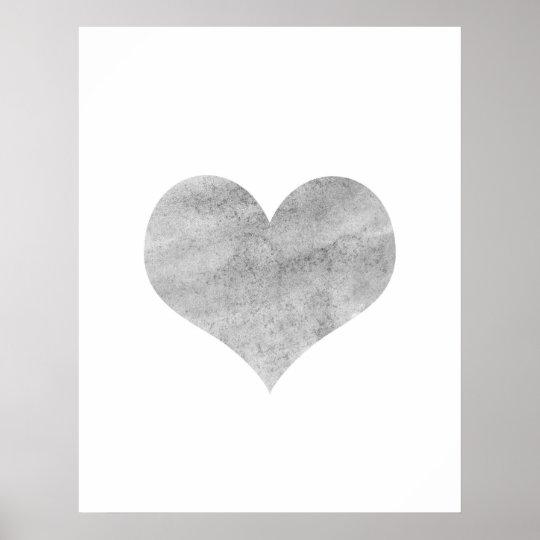 'Grunge Heart' Poster - Wall Decor