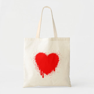 Grunge Heart - Red Tote Bag