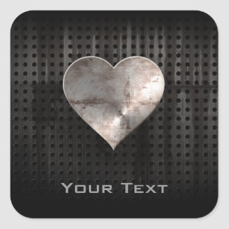Grunge Heart Square Sticker