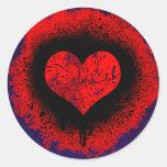 GRUNGE HEART STICKERS