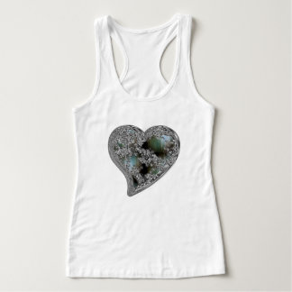 Grunge Heart Women's Slim Fit Racerback Tank Top