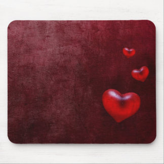 Grunge hearts - Mousepad